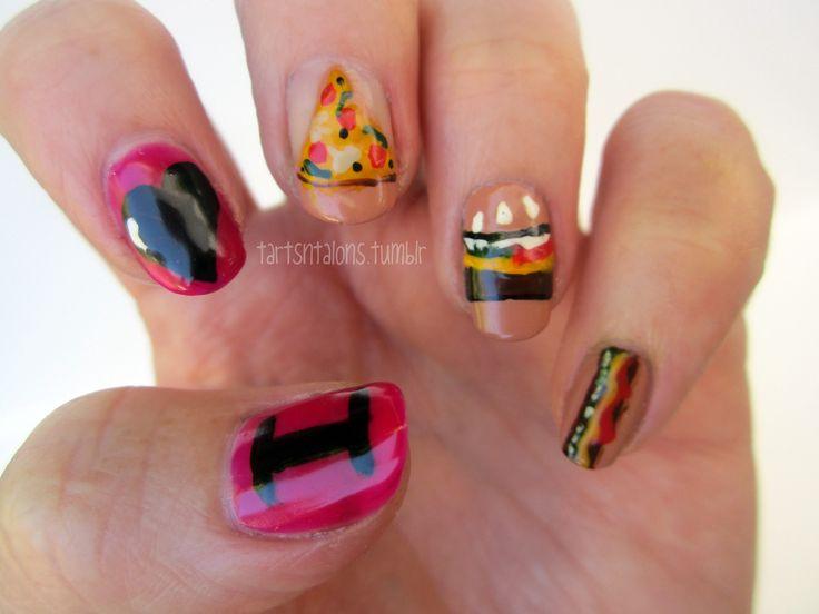 Junk Nail Art Designs: Pin junk food nails by missnails on. Nail ...