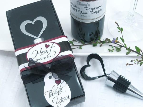 """""""Brilliant Heart"""" Bottle Stopper in Designer Gift Box"""