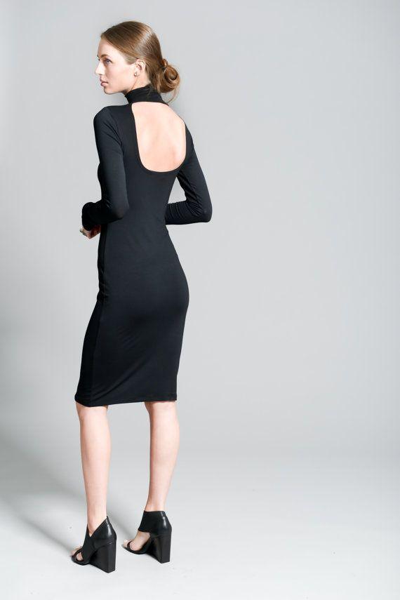 Party Dress / Black Dress / Backless Dress / by marcellamoda