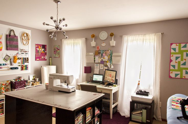 Today I'm sharing my sewing room as part of the Studio Spotlight tour, hosted by Heather of The Sewing Loft  and Jennifer of Ellison Lane Qu...