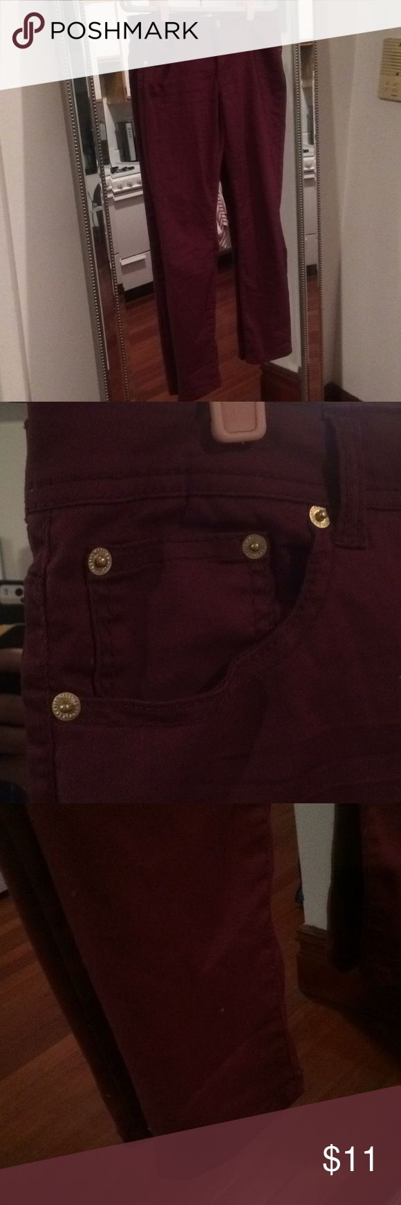 Maroon Skinny Jeans NWOT New without tags and never worn Jeans Skinny