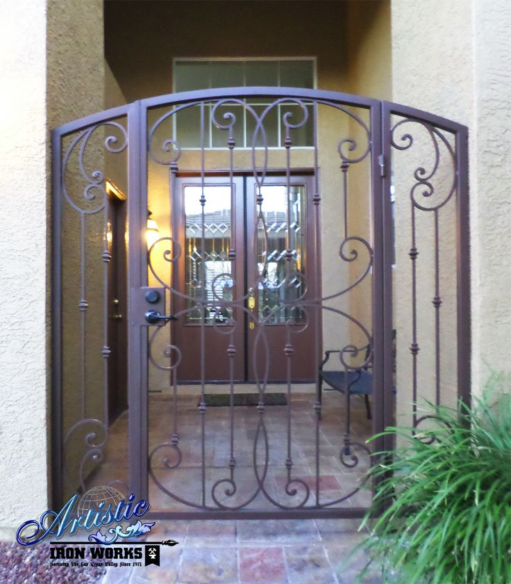 Fouet Wrought Iron Courtyard Entryway Model Ce0240