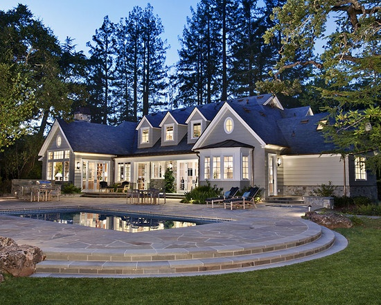 Dream! Traditional Exterior Design, Pictures, Remodel, Decor and Ideas - page 77: Idea, Dreams Home, Exterior Design, Dreams House, Traditional Exterior, Network Gray, House Colors, Photo, Pears White