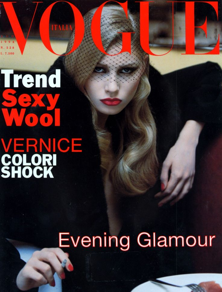 Kirsty Hume by Steven Meisel Vogue Italia August 1994