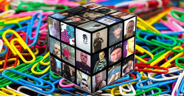 Magic cube made of 26 friends! Create Yours!