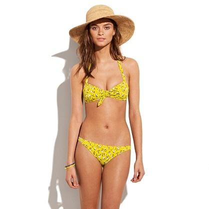 Rosette Tie-Front Bikini Top