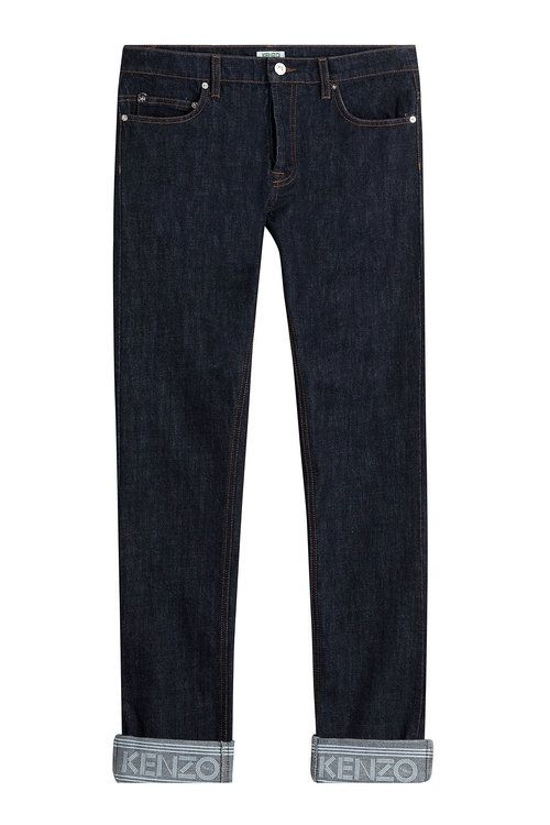 KENZO Slim Jeans With Cuffed Ankles. #kenzo #cloth #