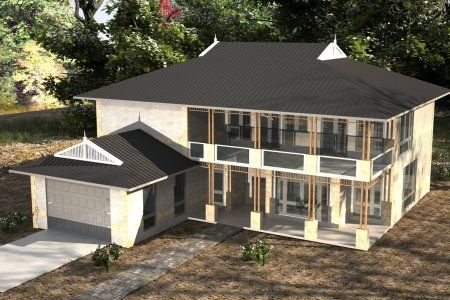 6 Bedroom 2 Storey House Plans sloping land
