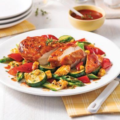 Poulet barbecue et légumes en papillote - Recettes - Cuisine et nutrition - Pratico Pratique