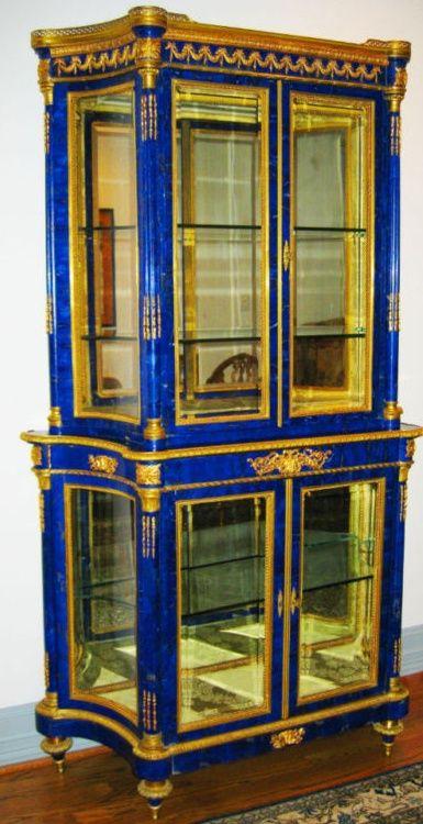Lapis U0026 Gold Vitrine. Italian FurnitureVintage ...