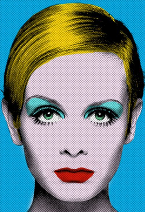 Pop art: a movement starting in late 1950s that uses objects, imagery, and themes that are common in popular culture and mass media