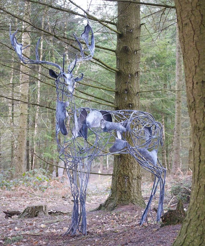 Ghostly Deer Sculpture by David Freedman