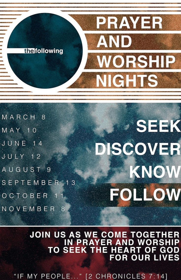 The Following   Prayer And Worship Nights Poster