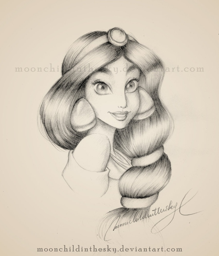 Jasmine Portrait BnW by *moonchildinthesky on deviantART