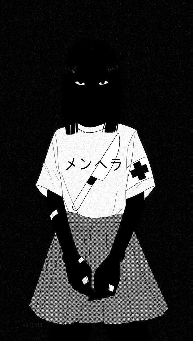 Trash Girls Black Dark Dark Anime Anime Wallpaper Dark Wallpaper