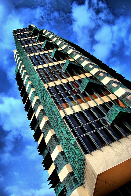 Price Tower in Bartlesville, Oklahoma. This is the only Skyscraper that was designed by Frank Lloyd Wright