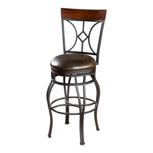 American Heritage - American Heritage Starletta 34 Inch Bar Stool in Autumn Rust - Art Deco-style lines and curves to add retro flair to you...