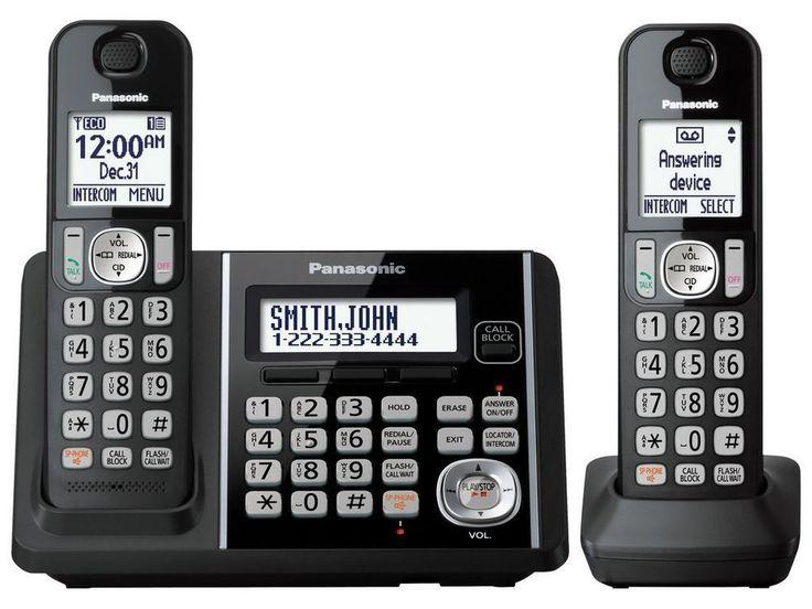 Panasonic KX-TG3752B 2HS Cordless Telephone, ITAD, DK, Black #Panasonic