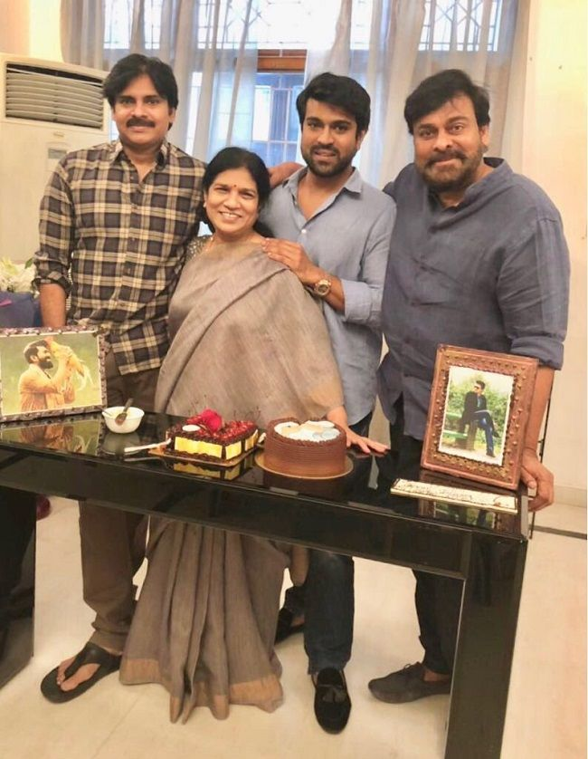 Pic Talk: Pawan Wishes Ram Charan At Chiru House! | Kalyan, Cute actors,  Mega star