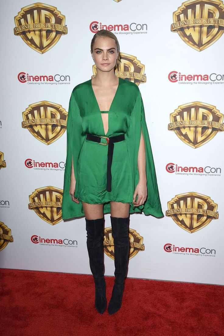 She wore Barbara Bui to the CinemaCon convention in Las Vegas.