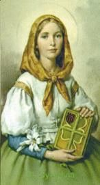 St Dymphna, Patroness of nervous disorders, epilepsy, depression, and mental health, pray for us. By your intercession may the Lord heal the faithful. Amen.