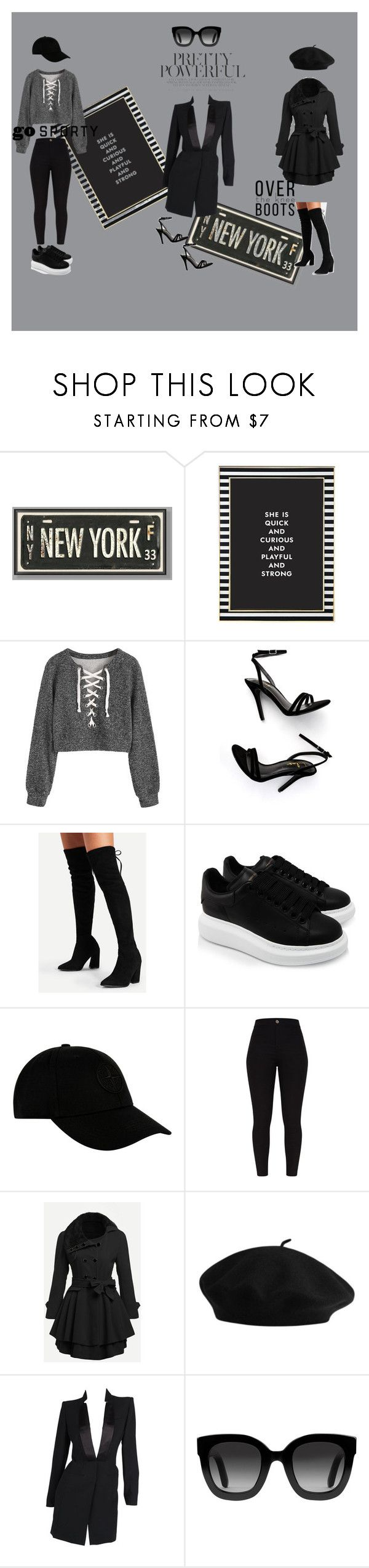 """""""3 Outfits - Pack and Go"""" by xgalaxyunicornx on Polyvore featuring PBteen, Kate Spade, LULUS, Alexander McQueen, STONE ISLAND and Gucci"""