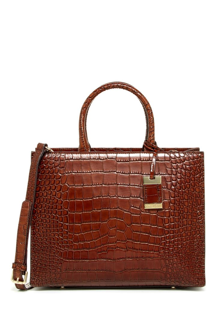 Christian LaCroix | Yvette Leather Croco Embossed Satchel | Nordstrom Rack  Sponsored by Nordstrom Rack.