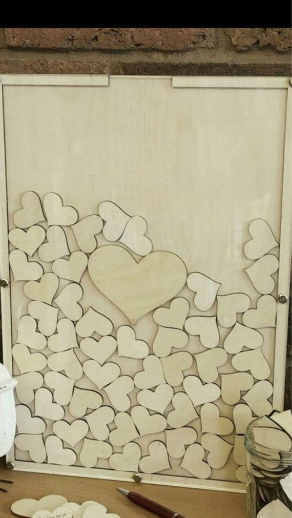 Wedding guest book, wedding heart drop box , #wedding #gastenboek #bruiloft www.bijnatrouwen.nl