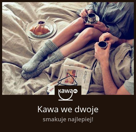 Kawa we dwoje smakuje najlepiej! #coffee #love #couple #morning #inspiration #home