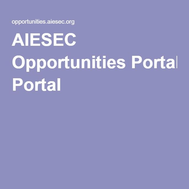 AIESEC Opportunities Portal