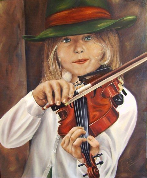 Little Violinist (SOLD) by Anet du Toit
