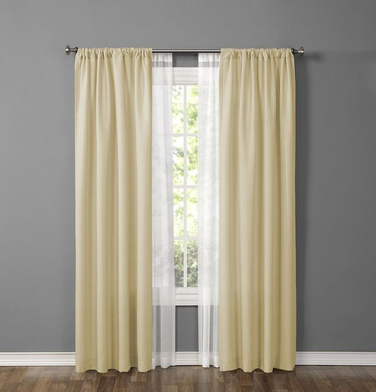Made4You Solid Sheer Rod Pocket Curtain Panels