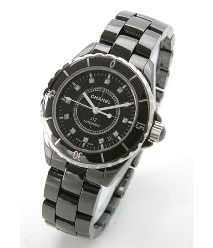 シャネルJ12スポーツ J12 オートマチック ダイヤインデックス セラミック ブラック メンズ H1626 -シャネルJ12時計コピー
