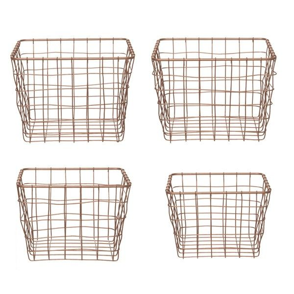 27 best Wire baskets images on Pinterest | Wire baskets, Desk and ...