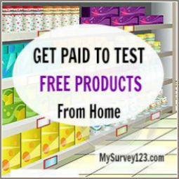 Make Money Testing Free Products from Home - Become a Product Tester for companies and Get Paid cash/gift cards to Test Products at Home via Product testing