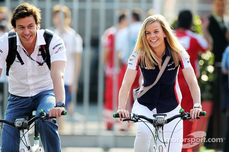 Toto Wolff, Mercedes AMG F1 Shareholder and Executive Director and his wife Susie Wolff, Williams FW35 Development Driver (Monza 2013)