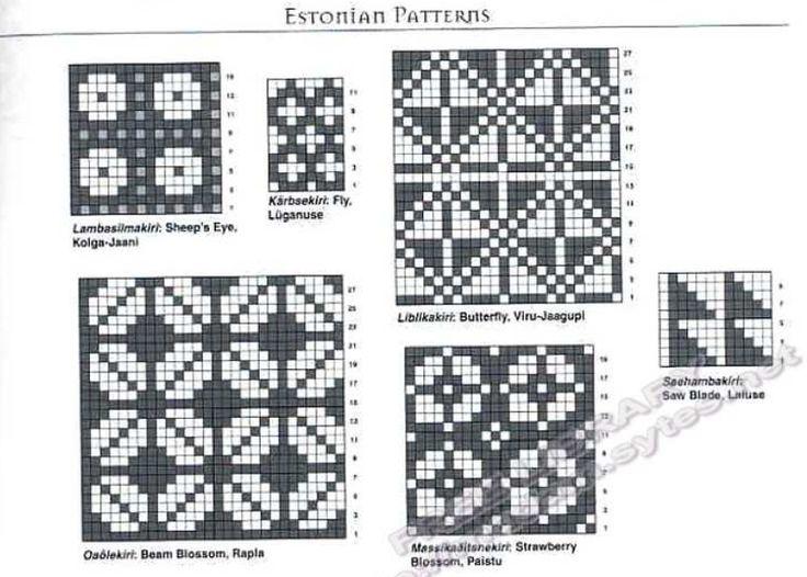 26 best beading - estonia images on Pinterest | Knitting charts ...