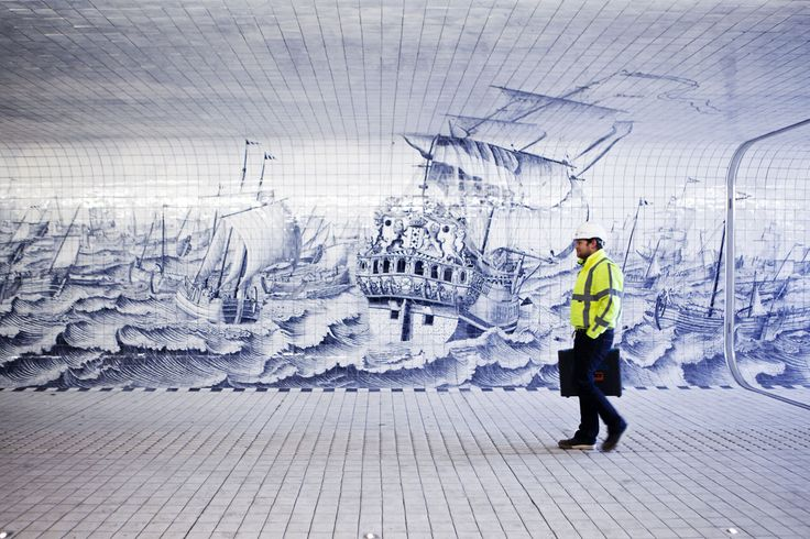 Benthem Crouwel Architekten, Jannes Linders · Cycle and Pedestrian Tunnel at Amsterdam Central Station · Divisare