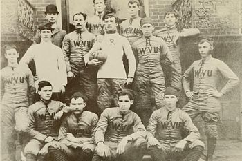 West Virginia University's first football team in 1891. (History of West Virginia University - Wikipedia, the free encyclopedia)