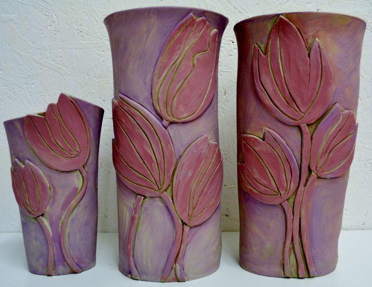 tulips vases.