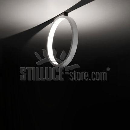 Cini e Nils Assolo 43 soffitto lampada;  Struttura in alluminio verniciato bianco diametro esterno 43 cm. altezza 45 cm.