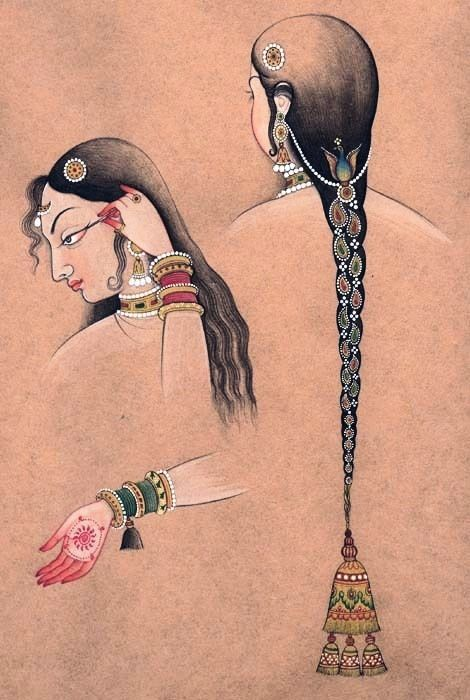 Eye-liner & hair ornaments & bracelets #shringaar...as per ancient Indian wisdom, the art of dressing itself is spiritual ..if done mindfully..