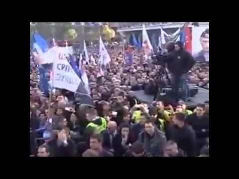 Митинг в Сербии в поддержку Шешеля, России и Новороссии