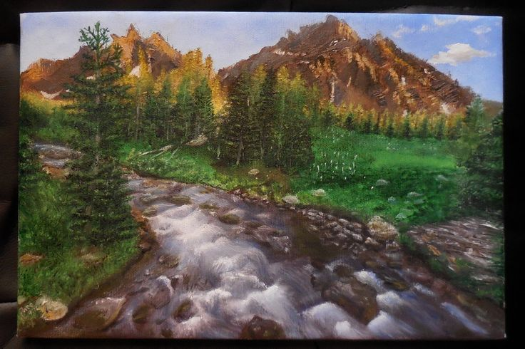 river landscape painting by NotOKFun on DeviantArt