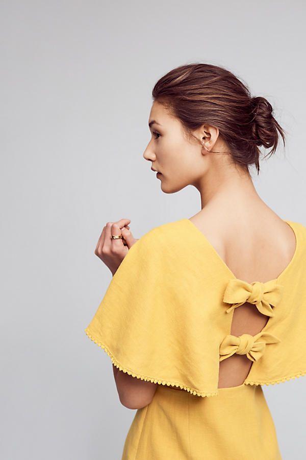Slide View: 1: Fluttered & Flounced Dress