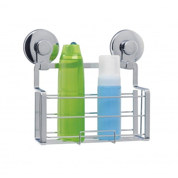 Everloc has a unique attachment system for their organisers which means simple installation with no drilling, hooks or damage to your walls. �This rectangular shower caddy is able to hold 15kg and the thermoplastic suction cup ensures it stays in place and waterproof. �With a single shelf, �this caddy is self draining. �Very stylish finished in high quality chrome.15 H x 22 W x 7.5 D cm
