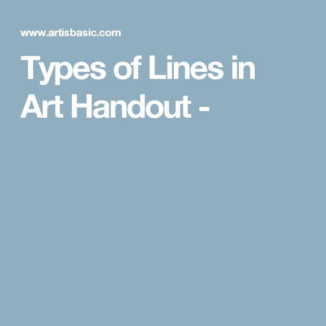 Types of Lines in Art Handout -
