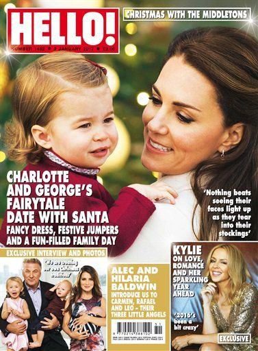 ♛ Duchess Mary ♛ (@princesspleats) on Twitter:  Catherine and Charlotte on the cover of Hello! Magazine Canada edition for January 2, 2017