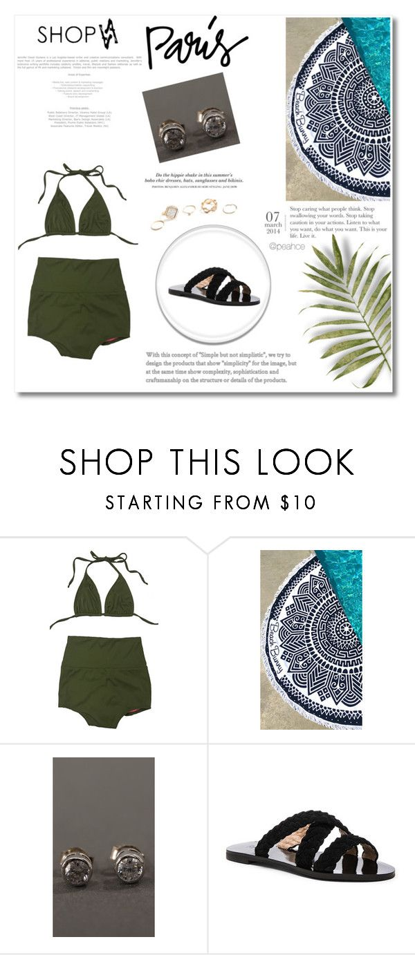 """Shopaa 2"" by miincee ❤ liked on Polyvore featuring Beach Bunny, H&M and GUESS"