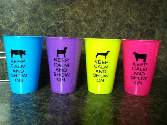 Keep calm and show on.  Your choice of sheep pig by getpersonal1, $2.50